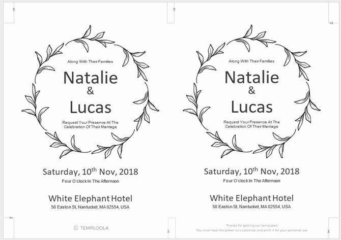 Wedding Invitation Template for Word Lovely 13 Free Templates for Creating event Invitations In