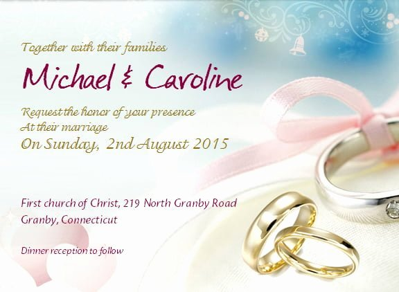 Wedding Invitation Template for Word Lovely Wedding Invitation with Sample Wording