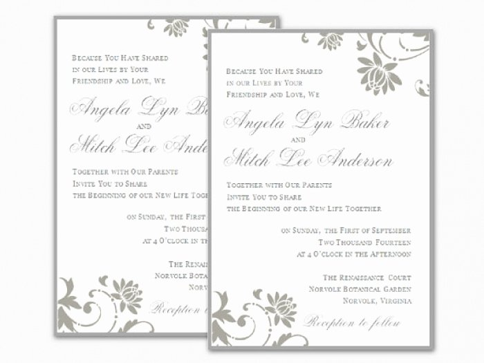 Wedding Invitation Template for Word New Cool Word Document Wedding Invitation Templates