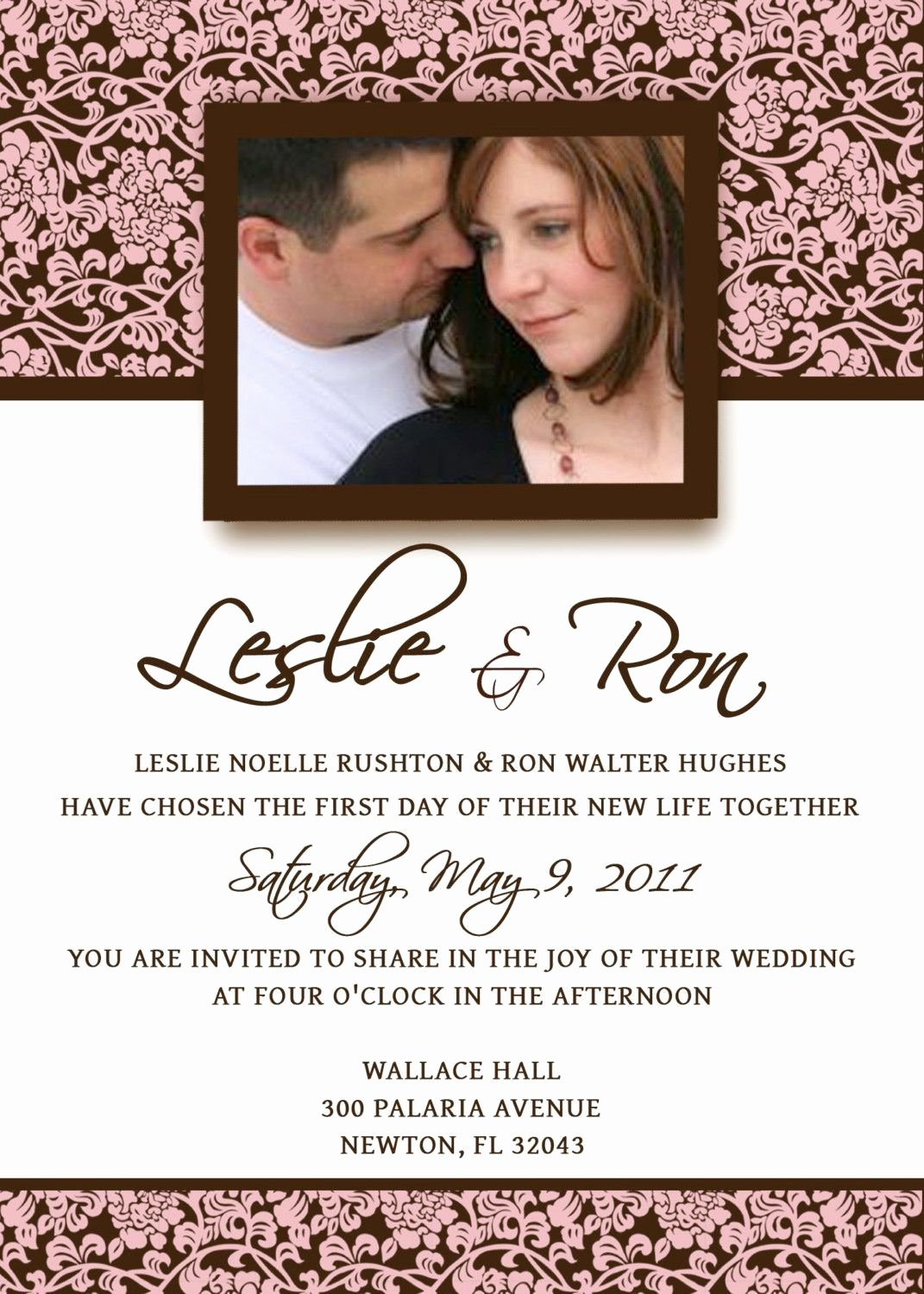 Wedding Invitation Template Free Best Of Homemade Wedding Invitation Template