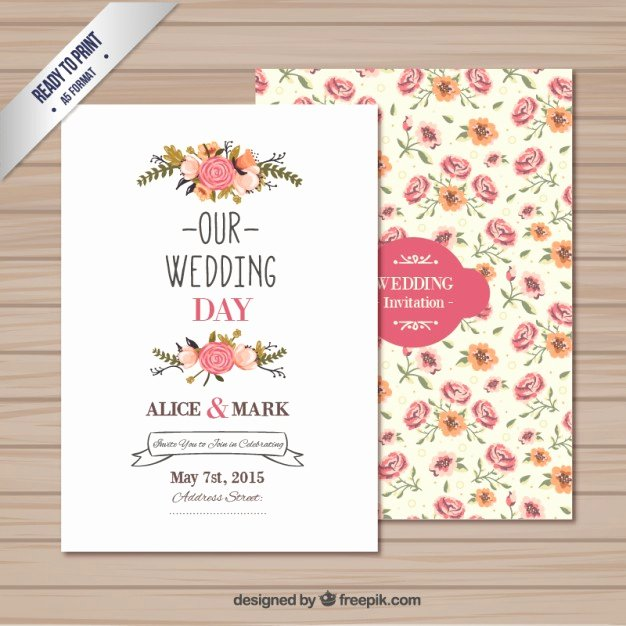 Wedding Invitation Template Free Download Awesome Wedding Invitation Template Vector