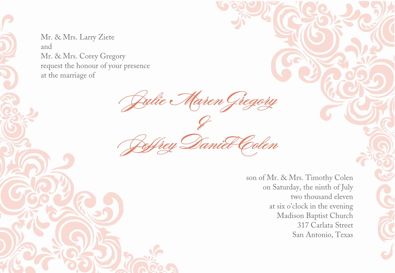 Wedding Invitation Template Free Download Inspirational Invitation Cards Template Invitation Cards Templates