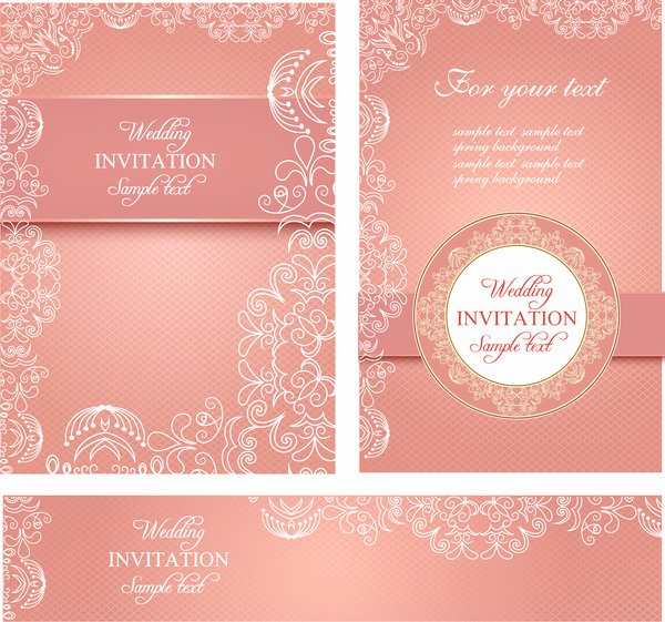 Wedding Invitation Template Free Download Unique Editable Wedding Invitations Free Vector 3 767