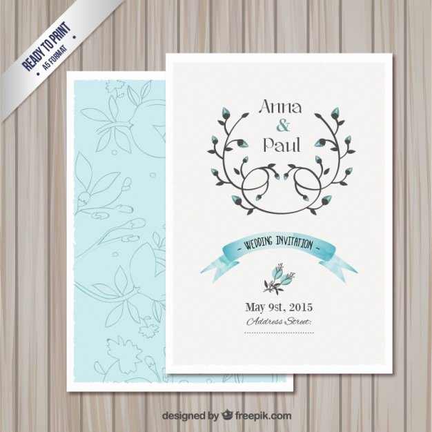 Wedding Invitation Template Free Download Unique Wedding Invitation Card Template Vector