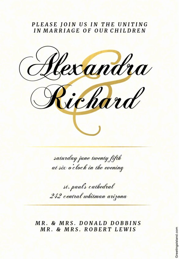 Wedding Invitation Template Free Download Unique Wedding Invitation Template 71 Free Printable Word Pdf