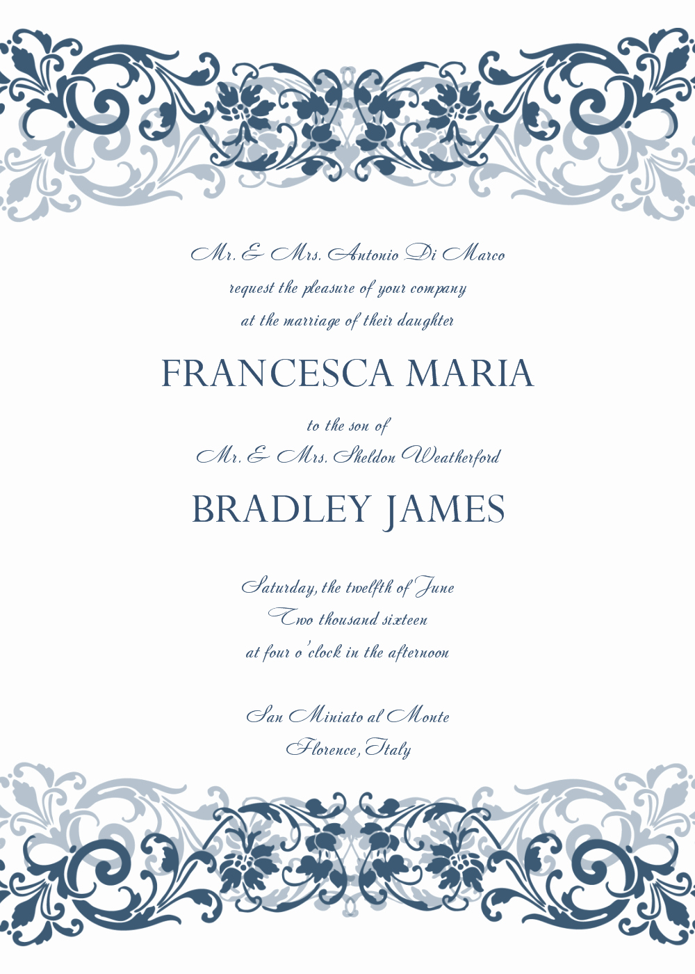 Wedding Invitation Template Free Elegant 8 Free Wedding Invitation Templates Excel Pdf formats