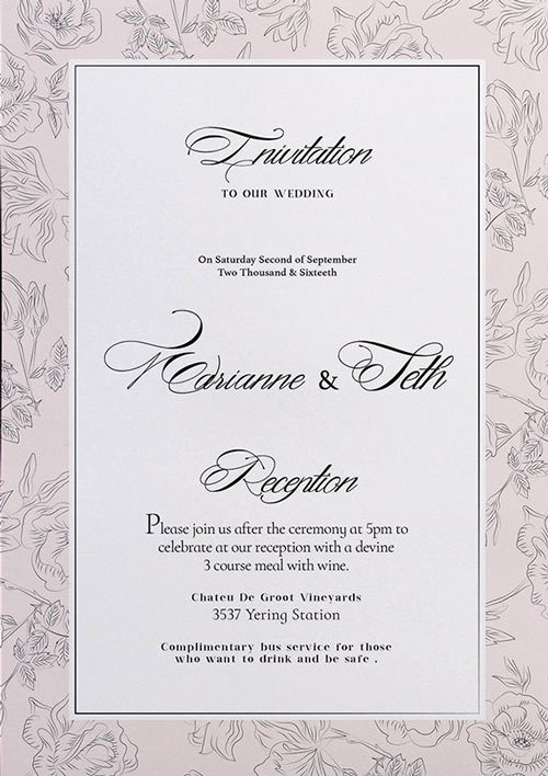 Wedding Invitation Template Free Elegant Free Wedding Invitation Flyer Template Download for