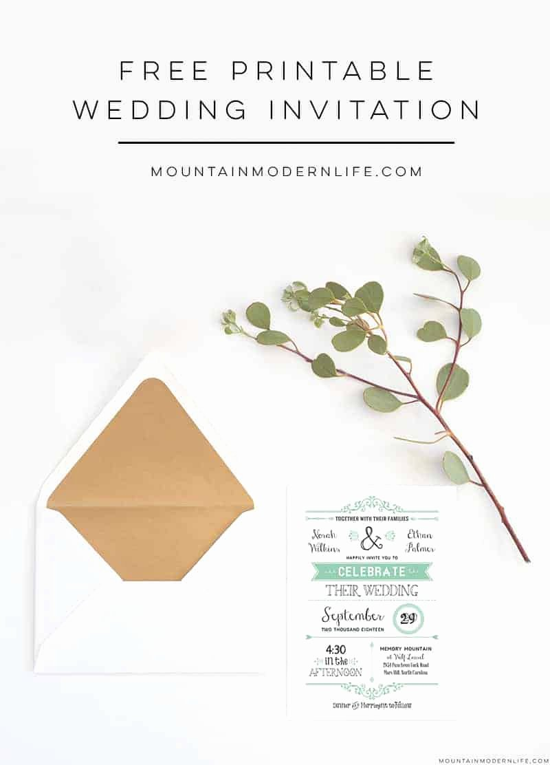 Wedding Invitation Template Free Elegant Free Wedding Invitation Template