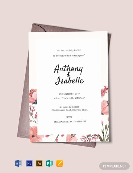 Wedding Invitation Template Free Lovely 423 Free Invitation Templates Pdf Word