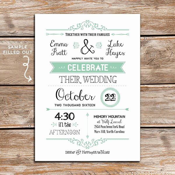 Wedding Invitation Template Free Lovely Free Wedding Invitation Template
