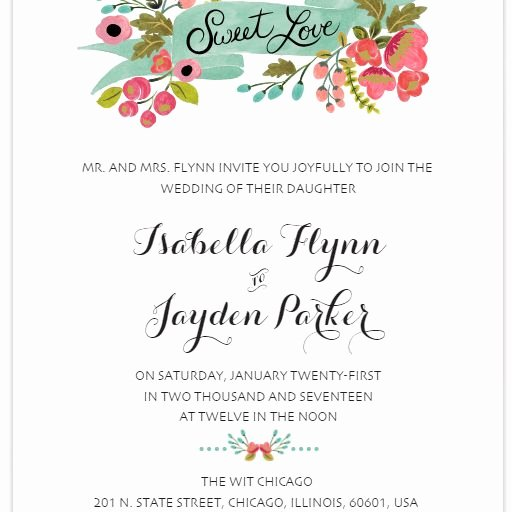 Wedding Invitation Template Free Unique 550 Free Wedding Invitation Templates You Can Customize