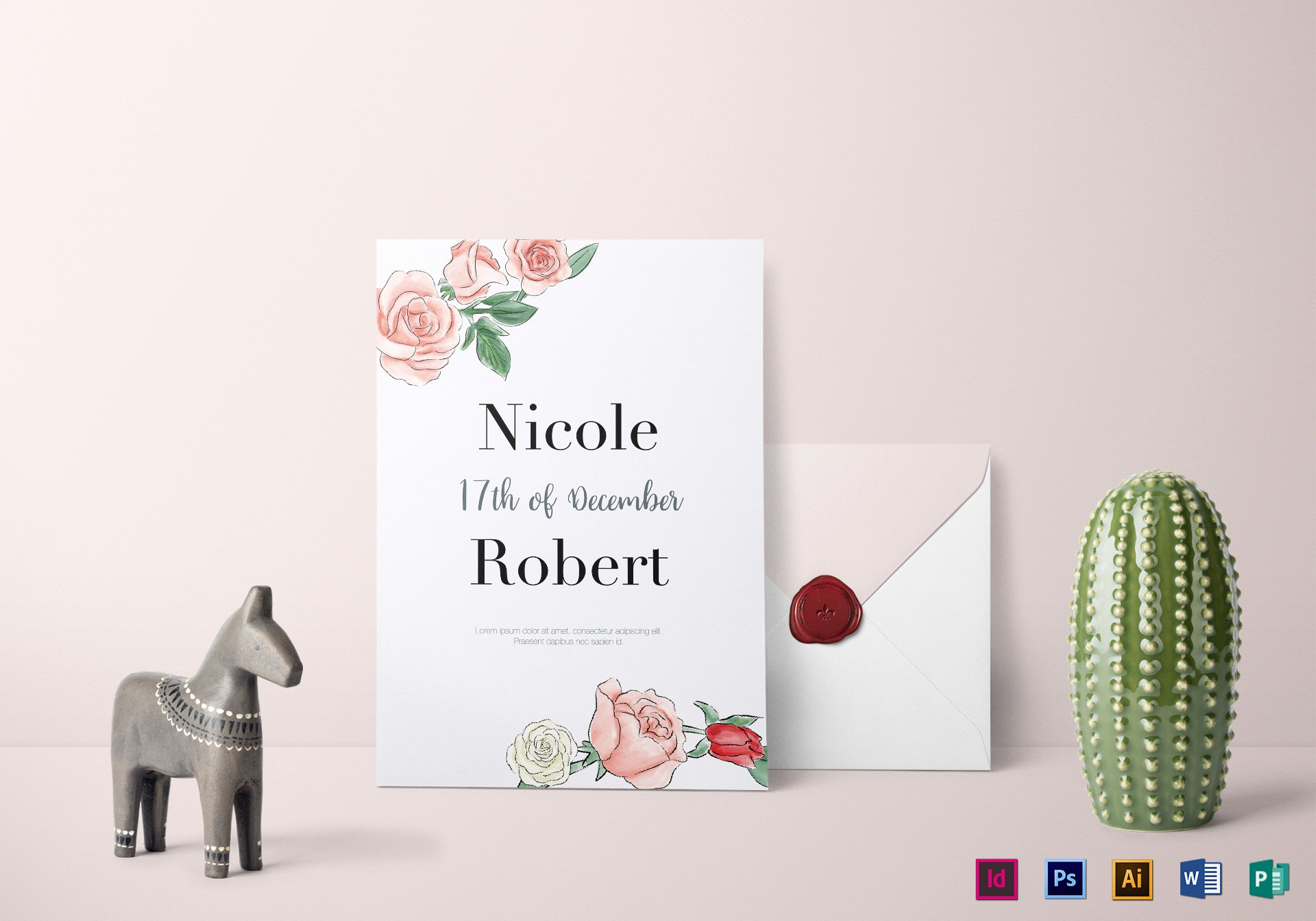 Wedding Invitation Template Illustrator Awesome Floral Wedding Invitation Design Template In Psd Word