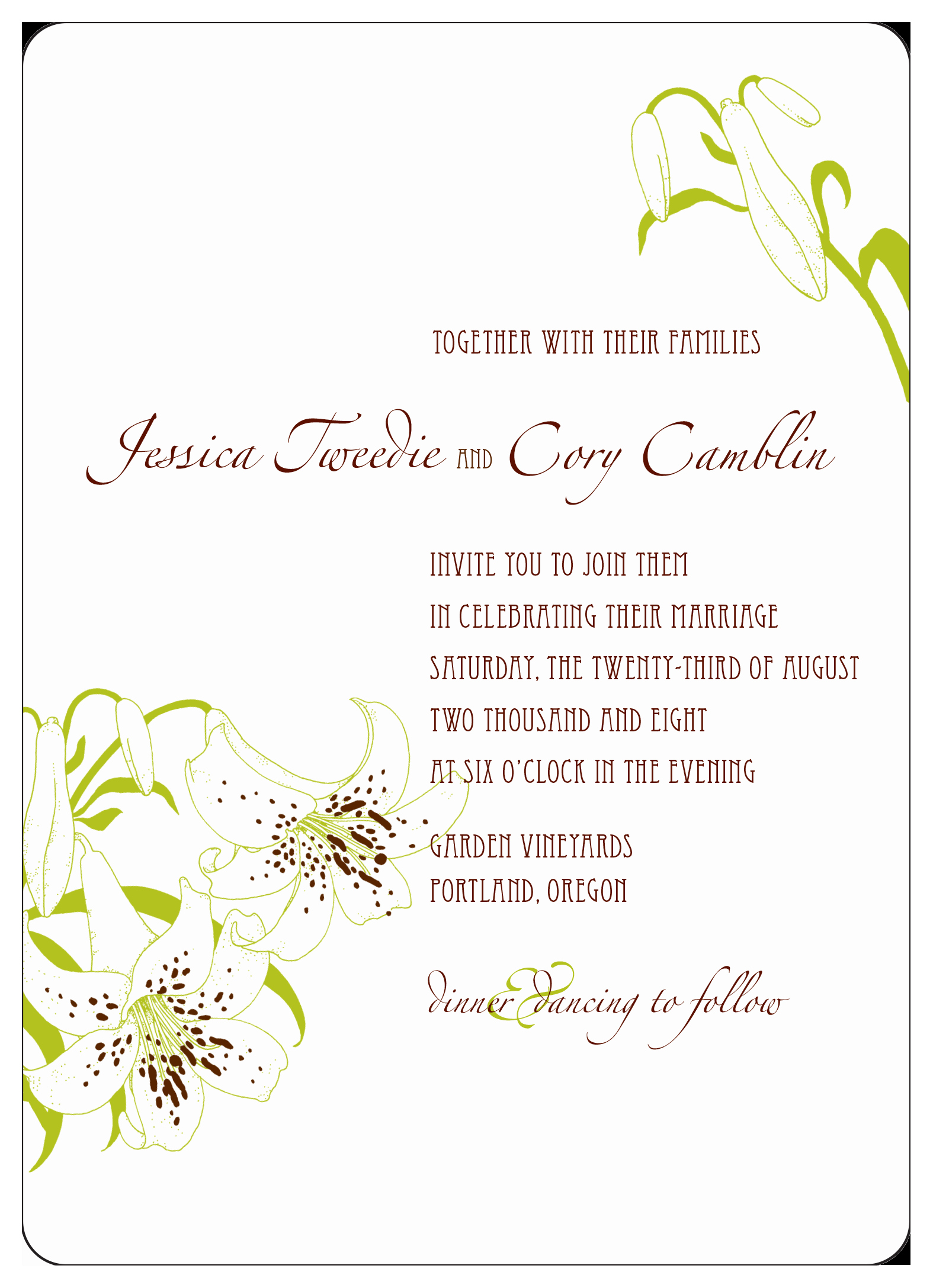 Wedding Invitation Template Illustrator Best Of Adobe Illustrator Wedding Invitation 2008 by Cory