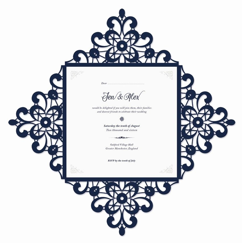 Wedding Invitation Template Illustrator Best Of Final Open Invite Adobe Illustrator