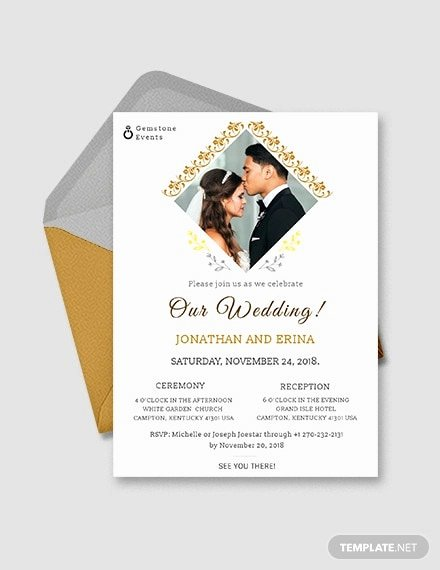Wedding Invitation Template Illustrator Elegant Free 20 Wedding Invitations In Psd Designs & Examples In