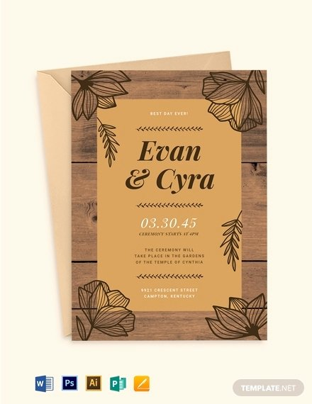 Wedding Invitation Template Illustrator Fresh 10 Fall Wedding Invitation Templates Illustrator