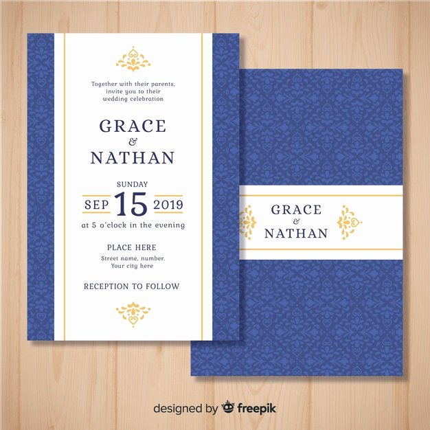 Wedding Invitation Template Illustrator Fresh Invitation Vectors S and Psd Files