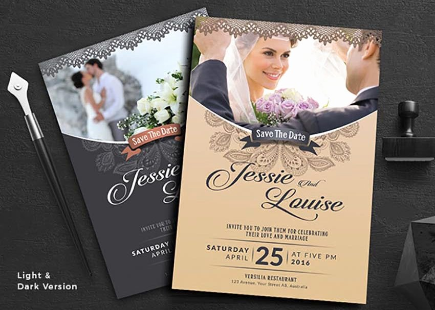 Wedding Invitation Template Illustrator New 50 Stylish Wedding Invitation Templates