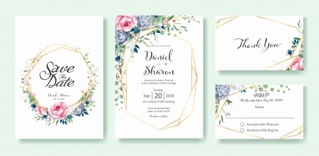 Wedding Invitation Template Illustrator New Wedding Invitation Card Template Vector