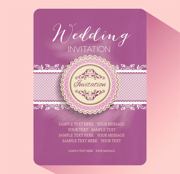 Wedding Invitation Template Illustrator New Wedding Invitation Card Templates Free Vector In Adobe