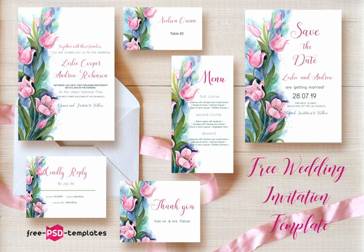 Wedding Invitation Template Psd Awesome 75 Free Must Have Wedding Templates for Designers