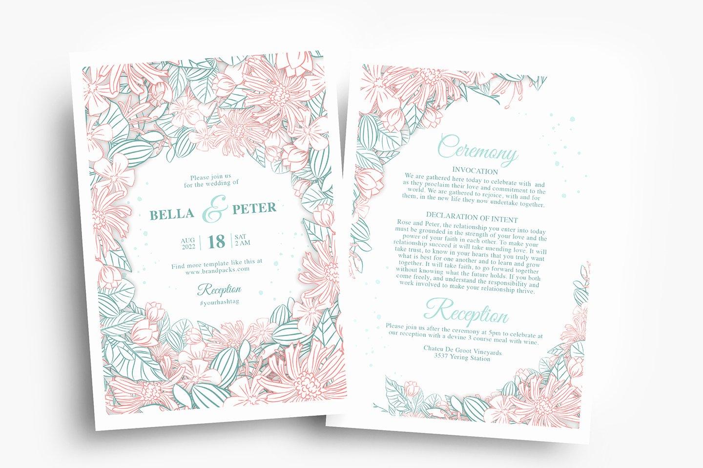 Wedding Invitation Template Psd Elegant Modern Floral Wedding Invitation Template Psd Ai
