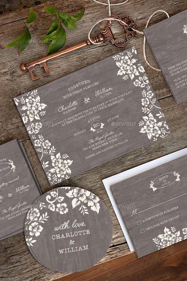 Wedding Invitation Template Psd Fresh 40 Best Wedding Invitation Psd Templates Designmaz
