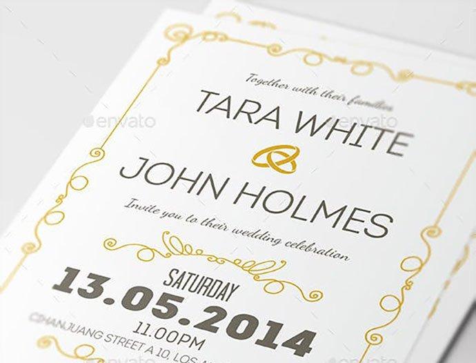 Wedding Invitation Template Psd Luxury 25 Gorgeous Psd Wedding Invitation Templates – Bashooka