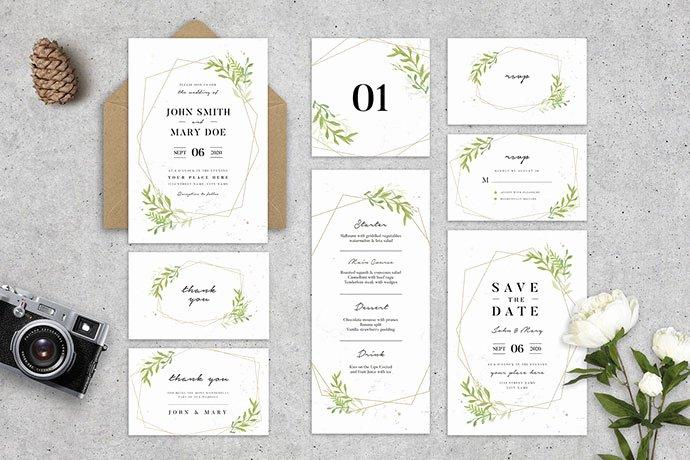Wedding Invitation Template Psd New 25 Gorgeous Psd Wedding Invitation Templates – Bashooka