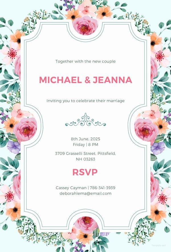 Wedding Invitation Template Psd New 34 Wedding Invitation Design Templates Psd Ai