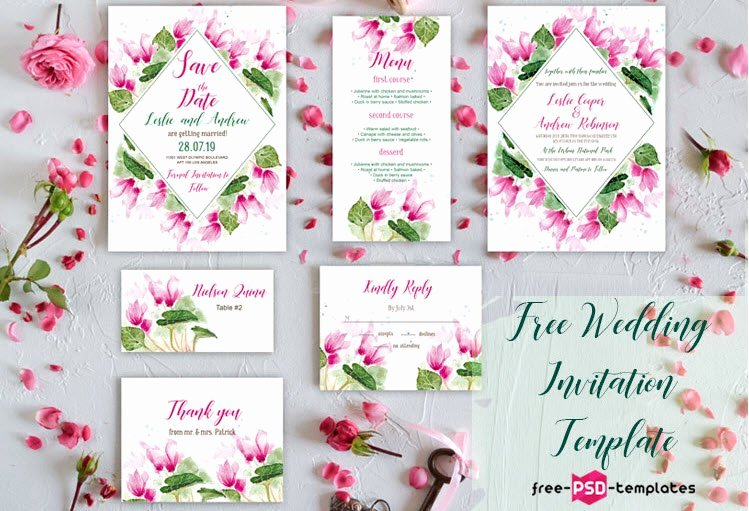 Wedding Invitation Template Psd New 75 Free Must Have Wedding Templates for Designers