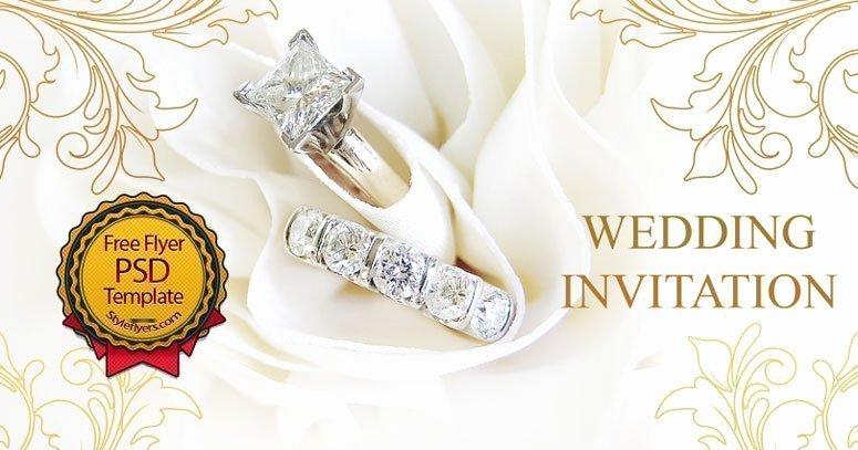 Wedding Invitation Template Psd Unique Wedding Invitation Free Psd Flyer Template Free Download