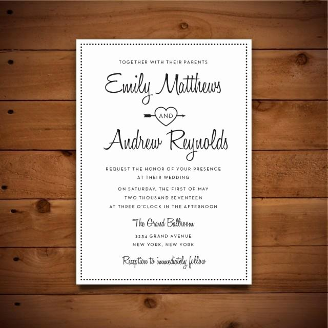 Wedding Invitation Word Template Beautiful Printable Vintage Style Wedding Invitation Template Dark