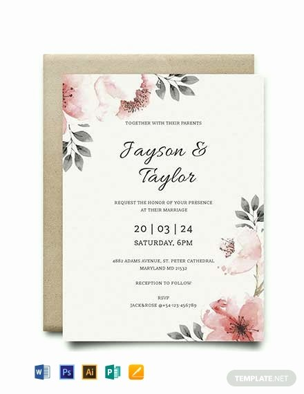 Wedding Invitation Word Template Best Of Free Vintage Wedding Invitation Template Word
