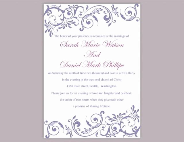 Wedding Invitation Word Template Luxury Diy Wedding Invitation Template Editable Text Word File
