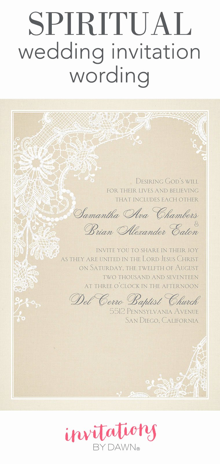 Wedding Invitation Wording Template Inspirational Spiritual Wedding Invitation Wording