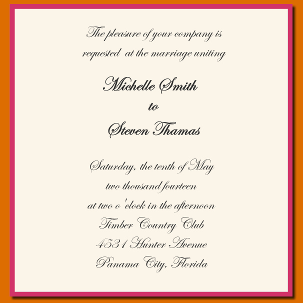 Wedding Invitation Wording Template Luxury 12 Sample Wording for Wedding Invitations