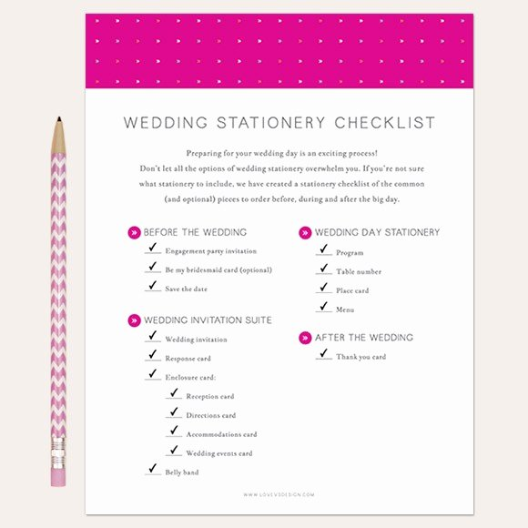 Wedding Invitations List Template Awesome Wedding Stationery Checklist Printable by Basic Invite