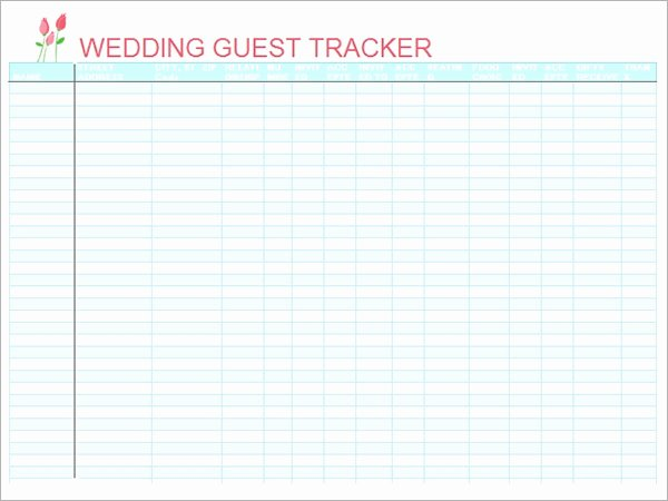 Wedding Invitations List Template Best Of Free 16 Wedding Guest List Templates In Pdf Word