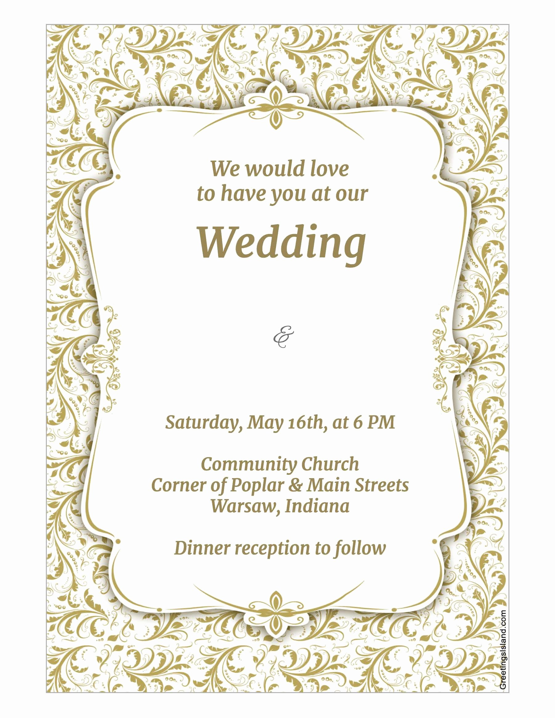 Wedding Invitations List Template Fresh Wedding Invitation Template Wedding Invitation Template