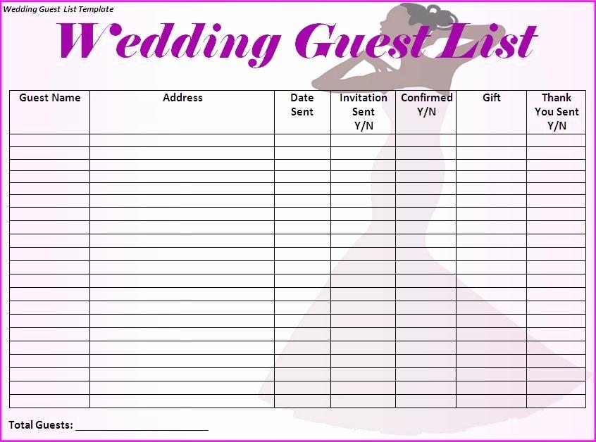 Wedding Invitations List Template Inspirational Modèles Microsoft Fice Invité De Mariage Modèle De Liste