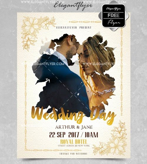 Wedding Invitations Photoshop Template Beautiful Free Customizable Wedding Invitation Psd Templates and