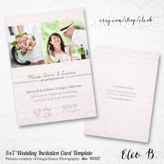 Wedding Invitations Photoshop Template Best Of 5x7 Wedding Invitation Template Shop Wedding