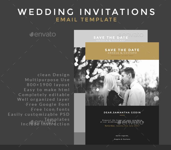 Wedding Invitations Photoshop Template Elegant 25 Email Invitation Templates Psd Vector Eps Ai