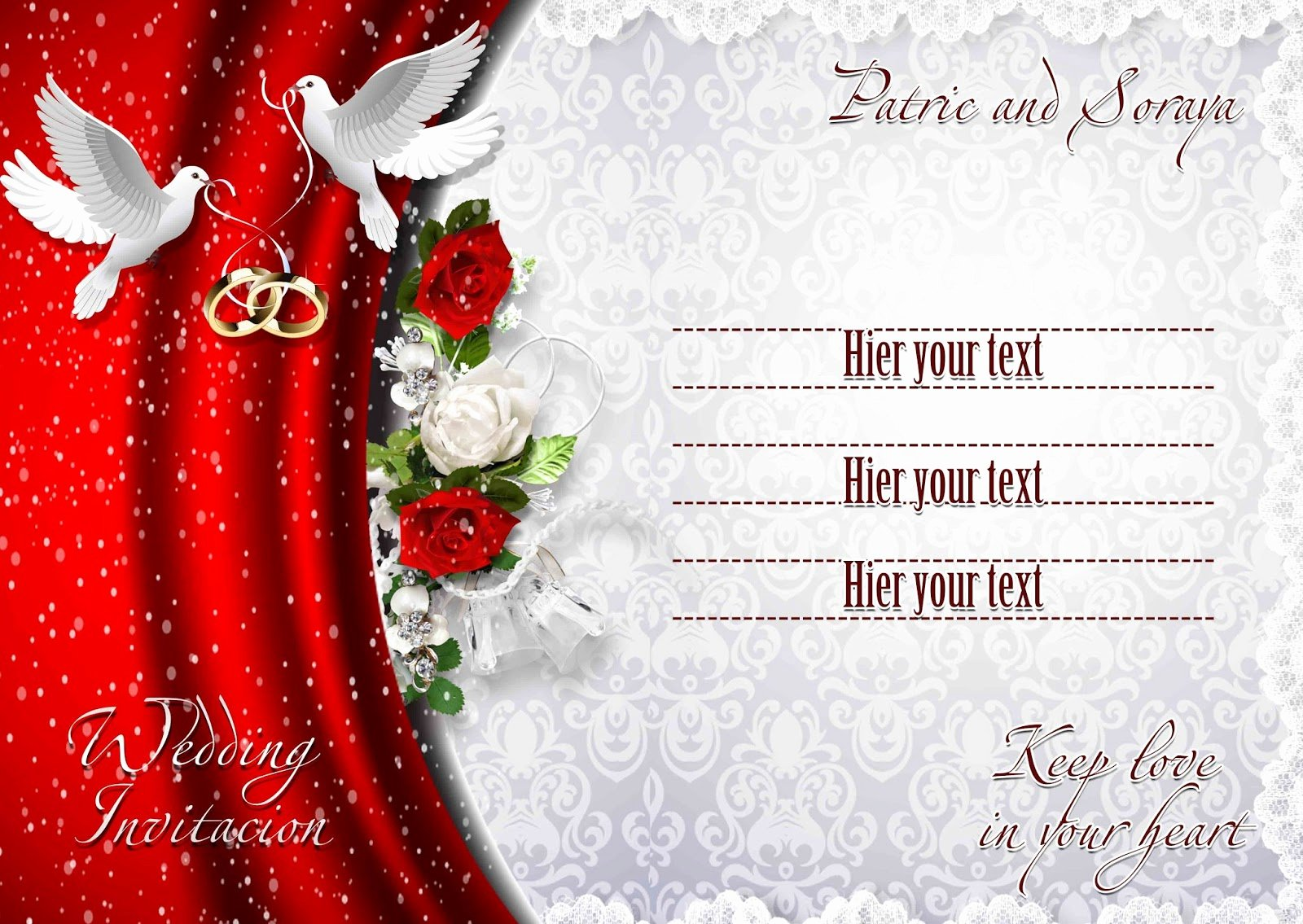 Wedding Invitations Photoshop Template Elegant Red Ribbon Coloring Pages Erieairfair