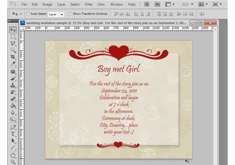 Wedding Invitations Photoshop Template Fresh Shop Tutorial How to Make A Wedding Invitation