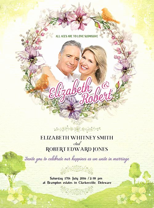 Wedding Invitations Photoshop Template Luxury Wedding Invitation Free Psd Flyer Template Download for