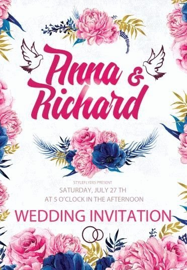 Wedding Invitations Photoshop Template Unique Wedding Invitation Psd Flyer Template 9513 Styleflyers