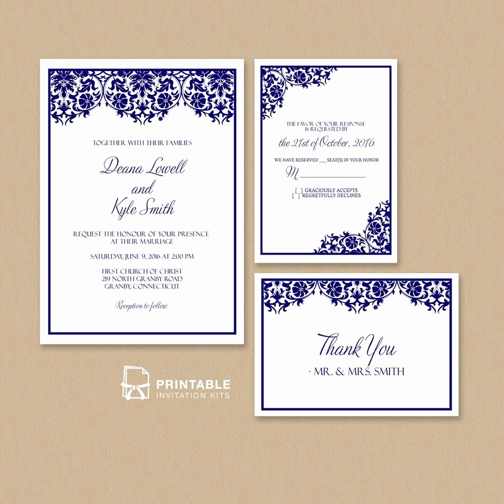 Wedding Invitations Template Free Fresh Free Pdf Damask Frame Wedding Invitation Templates – Set