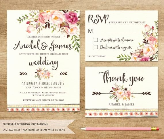 Wedding Invitations Template Free Lovely Printable Wedding Invitations Best Photos Cute Wedding Ideas